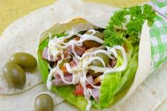 Tortilla sandwich Stock Photos