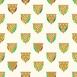 Tortilla or sandwich tacos food seamless pattern Stock Photography