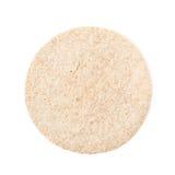 Tortilla simple de blé d'isolement photographie stock
