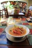 Tortilla Soup In Restaurant Stock Photo