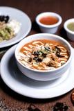 Tortilla Soup - Sopa de Tortilla stock photos