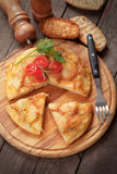 Tortilla, spanish omelet with eggs and potato Stock Image