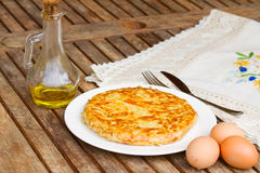 Tortilla  - spanish omelette Royalty Free Stock Photo