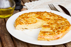 Tortilla  - spanish omelette Royalty Free Stock Photography