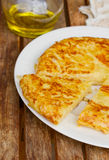 Tortilla  - spanish omelette close up Stock Image