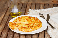 Tortilla  - spanish omelette Stock Images