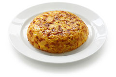 Tortilla, spanish potato omelet Royalty Free Stock Photography