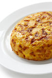 Tortilla, spanish potato omelet Stock Photos