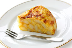 Tortilla, spanish potato omelet Royalty Free Stock Photos