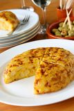 Tortilla, spanish potato omelet Stock Image