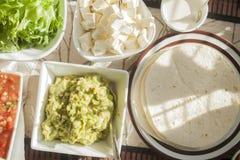 Tortilla table Royalty Free Stock Photos