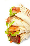 Tortilla with vegetables Royalty Free Stock Image