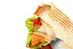 Tortilla with vegetables Royalty Free Stock Photos