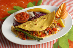 Tortilla with vegetables Royalty Free Stock Photography