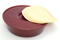 Tortilla Wamer et tortillas Photographie stock libre de droits