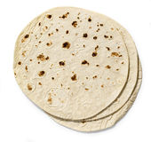 Tortilla. On white background with clipping path Royalty Free Stock Image