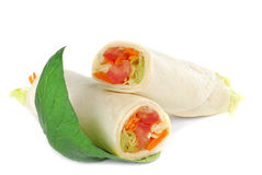Tortilla wrap Royalty Free Stock Photography
