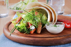 Tortilla wrap Stock Images