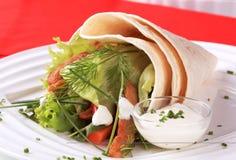 Tortilla wrap Stock Photo