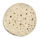 Tortilla Wrap Bread. Isolated on a white background.With clipping path stock photos