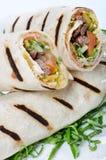 Tortilla Wrap Cut in Half Royalty Free Stock Image