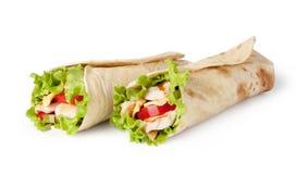 Tortilla Wrap, Fajita Stock Images