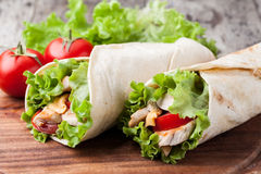 Tortilla wrap, fajita Royalty Free Stock Photography