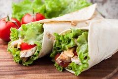 Tortilla wrap, fajita Stock Photo