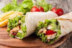 Tortilla wrap, fajita Stock Photos