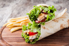 Tortilla wrap, fajita Royalty Free Stock Images