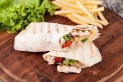 Tortilla wrap, fajita Royalty Free Stock Image