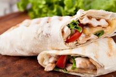Tortilla wrap, fajita Royalty Free Stock Photos