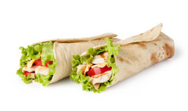 Tortilla wrap, fajita Stock Images