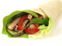 Tortilla wrap, isolated, closeup Stock Photos