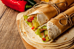 Tortilla wrap Royalty Free Stock Photo
