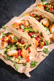 Tortilla wrap time Royalty Free Stock Photos