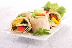Tortilla wrap with vegetable Royalty Free Stock Image