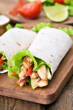 Tortilla wrap Royalty Free Stock Images