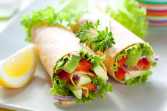Tortilla wraps Stock Image