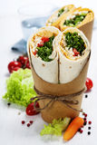 Tortilla wraps Royalty Free Stock Images