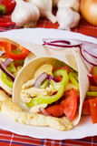 Tortilla wraps with chicken salad Stock Photo