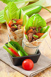 Tortilla wraps with meat Royalty Free Stock Photography
