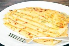 Tortilla z serem, Khachapuri georgians zdjęcie stock