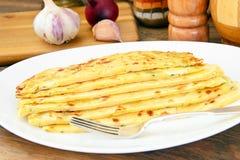 Tortilla z serem, Khachapuri georgians zdjęcia royalty free