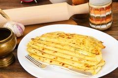 Tortilla z serem, Khachapuri georgians zdjęcie royalty free