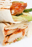 tortillaomslag arkivbild