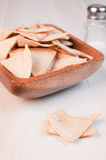 Tortillas baked and salted chips Stock Image