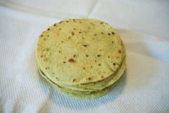 Tortillas of cactus leaves and corn flour. stock photos