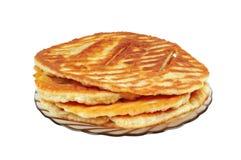 Tortillas cozidos em uma placa Imagens de Stock Royalty Free