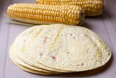 Tortillas de maíz Foto de archivo